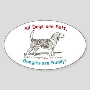 Beagle Beagles Dog Oval Sticker