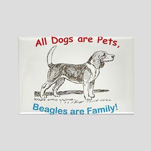 Beagle Beagles Dog Rectangle Magnet