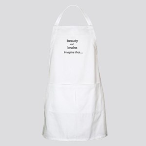 Beauty and Brains BBQ Apron