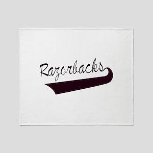 Razorbacks Lettering Throw Blanket
