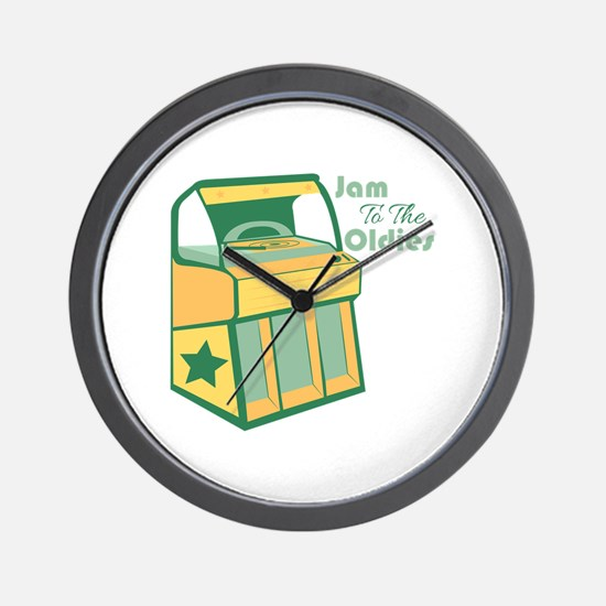 Jam To The Oldies Wall Clock