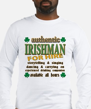 Irishman for Hire Long Sleeve T-Shirt