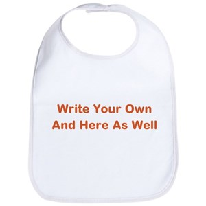 make your own baby bibs cafepress