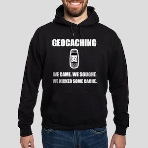 Geocaching Kicked Cache Hoodie (dark)