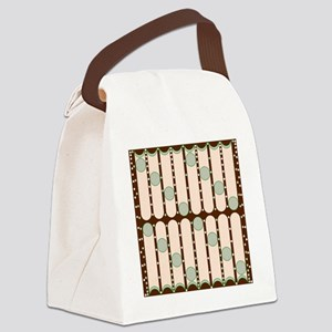 Dripping Dots green Canvas Lunch Bag