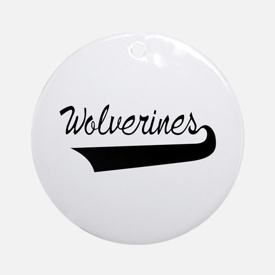 Wolverines Lettering Ornament (Round)