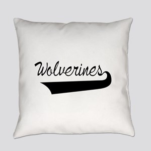 Wolverines Lettering Everyday Pillow