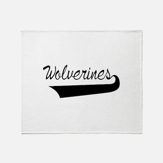 Wolverines Lettering Throw Blanket