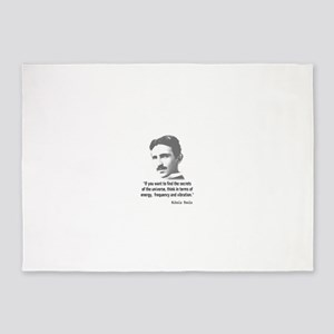 Quote By Nikola Tesla 5'x7'Area Rug