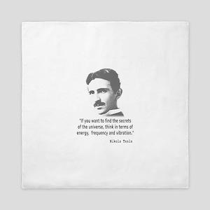 Quote By Nikola Tesla Queen Duvet