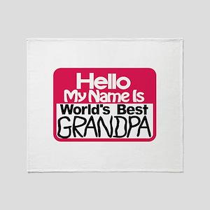 Best Grandpa Throw Blanket