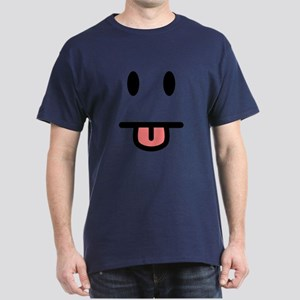 Tongue Sticking Out Face Dark T-Shirt