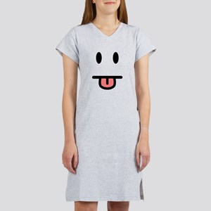 Tongue Sticking Out Face Women's Nightshirt