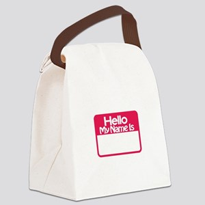 Name Tag Canvas Lunch Bag