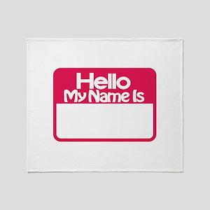 Name Tag Throw Blanket