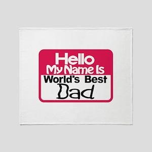Best Dad Throw Blanket