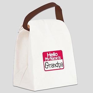Hello Grandpa Canvas Lunch Bag