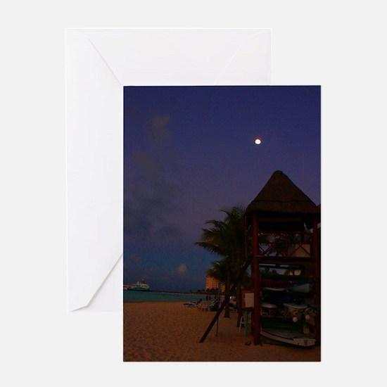 Cancun Moon Greeting Card