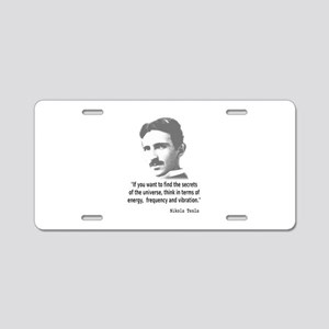 Quote By Nikola Tesla Aluminum License Plate