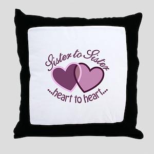 SisterTo Sister Throw Pillow