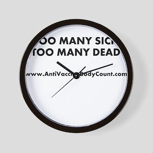 Too Many Sick Wall Clock