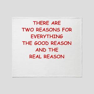 reasons Throw Blanket