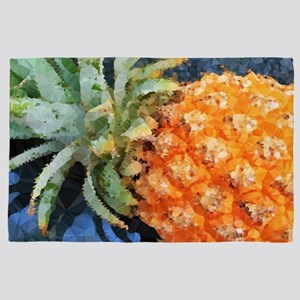 Pineapple Low Poly Tropical 4' x 6' Rug