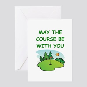 golfing Greeting Cards