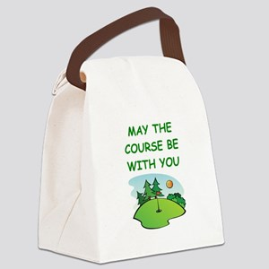 golfing Canvas Lunch Bag