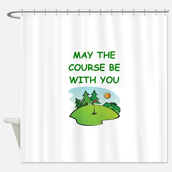 golfing Shower Curtain