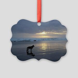 Lone Shepherd Picture Ornament