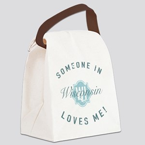 Someone In Wisconsin Canvas Lunch Bag