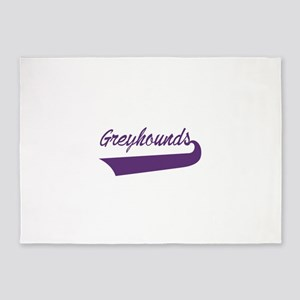 Greyhounds Lettering 5'x7'Area Rug
