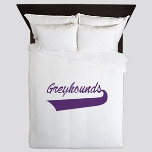 Greyhounds Lettering Queen Duvet