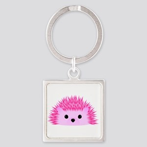 Hedgy the Hedgehog Square Keychain
