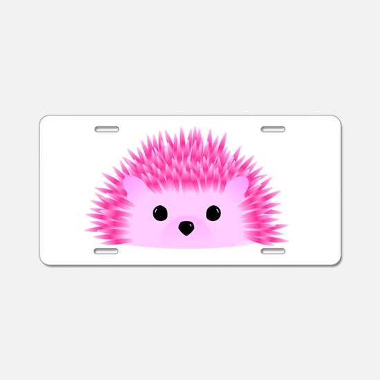 Hedgy the Hedgehog Aluminum License Plate