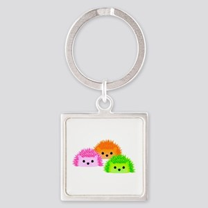 Hedgy, Vedgy, and Sedgwick Square Keychain