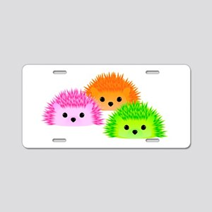 Hedgy, Vedgy, and Sedgwick Aluminum License Plate