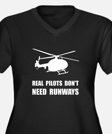 Helicopter Pilot Runways Plus Size T-Shirt