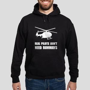 Helicopter Pilot Runways Hoodie (dark)