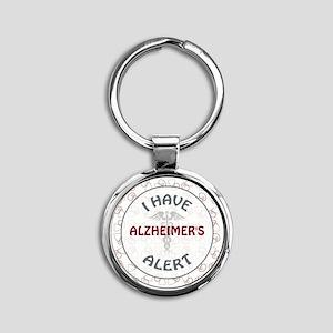 ALZHEIMER'S Round Keychain