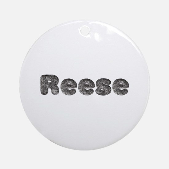 Reese Wolf Round Ornament