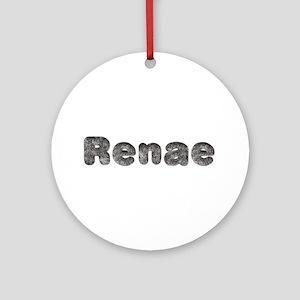 Renae Wolf Round Ornament