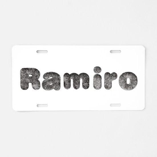 Ramiro Wolf Aluminum License Plate