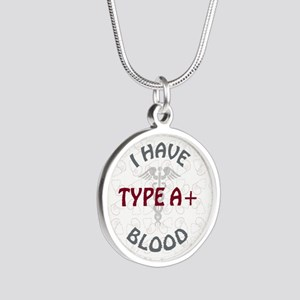 TYPE A+ Silver Round Necklace