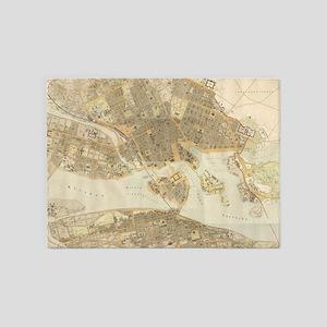 Vintage Map of Stockholm (1899) 5'x7'Area Rug