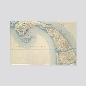 Vintage Map of Lower Cape Cod Rectangle Magnet