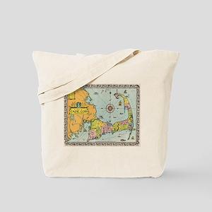 Vintage Map of Cape Cod Tote Bag