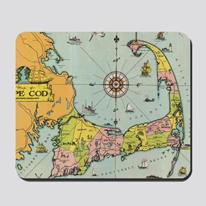 Vintage Map of Cape Cod Mousepad