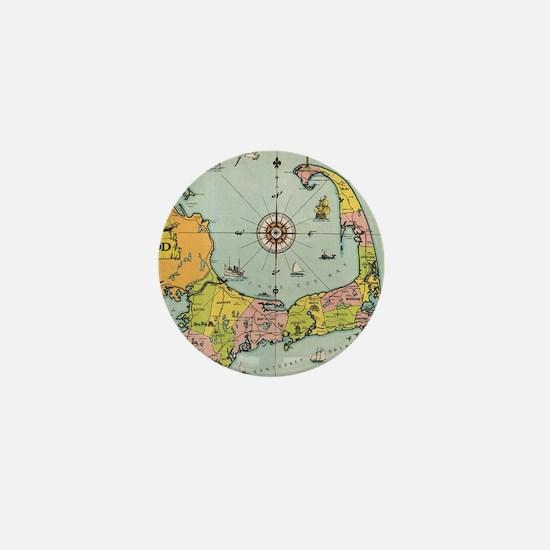 Vintage Map of Cape Cod Mini Button